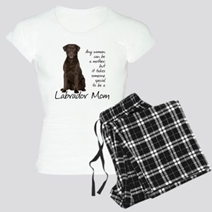 Chocolate Lab Mom Women's Light Pajamas