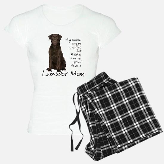 Chocolate Lab Mom Pajamas