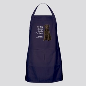 Chocolate Lab v. Wife Apron (dark)