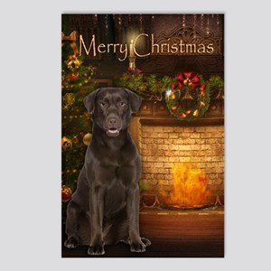 Choc. Lab Holiday Postcards (Package of 8)