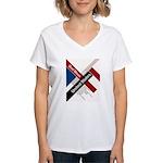 God Bless The United States Women's V-Neck T-Shirt