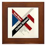 God Bless The United States Framed Tile
