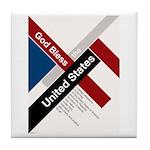 God Bless The United States Tile Coaster