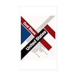 God Bless The United States Sticker (Rectangle 50