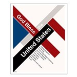 God Bless The United States Small Poster