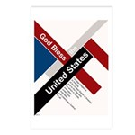 God Bless The United States Postcards (Package of