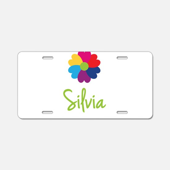 Silvia Valentine Flower Aluminum License Plate