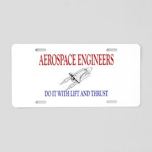 Aerospace Engineers Do It Aluminum License Plate