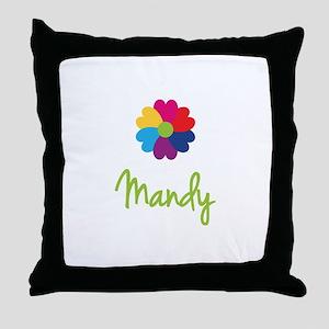 Mandy Valentine Flower Throw Pillow