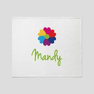 Mandy Valentine Flower Throw Blanket