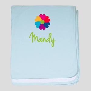 Mandy Valentine Flower baby blanket