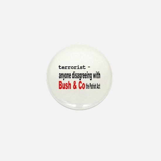 Terrorist Defined Mini Button