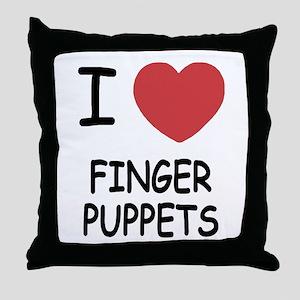 I heart finger puppets Throw Pillow