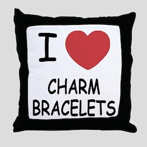 I heart charm bracelets Throw Pillow