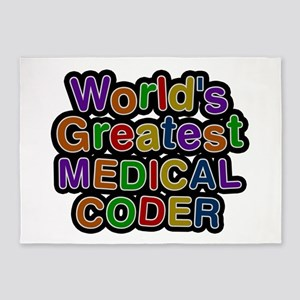 World's Greatest MEDICAL CODER 5'x7' Area Rug