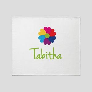 Tabitha Valentine Flower Throw Blanket