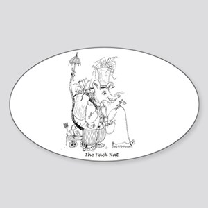The Pack Rat Sticker (Oval)
