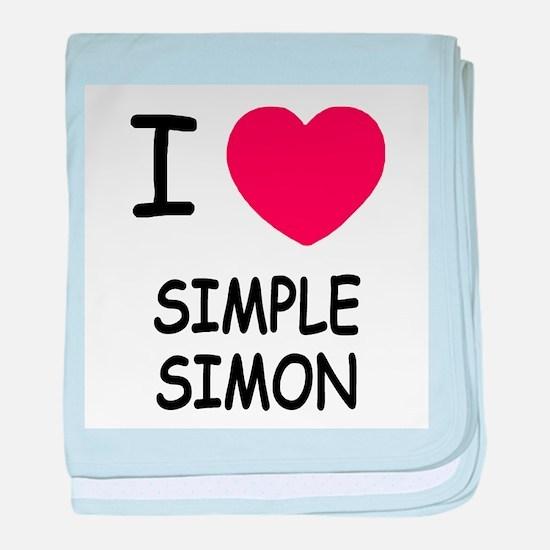I heart simple simon baby blanket