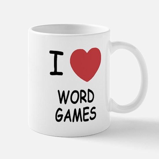 I heart word games Mug