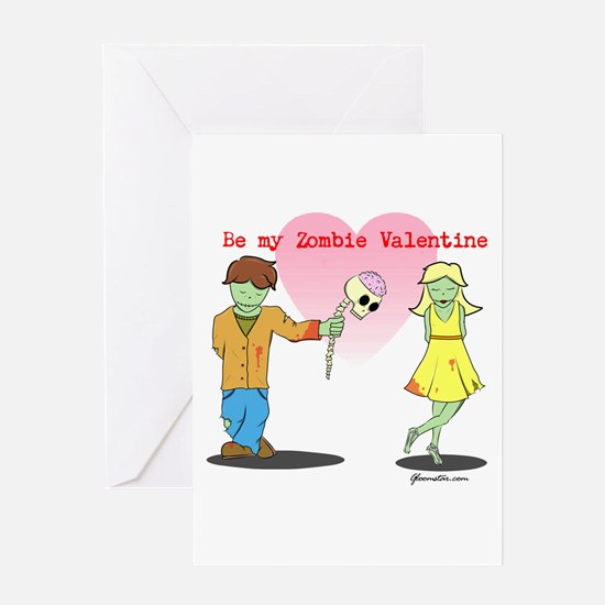 Be My Zombie Valentine Greeting Card