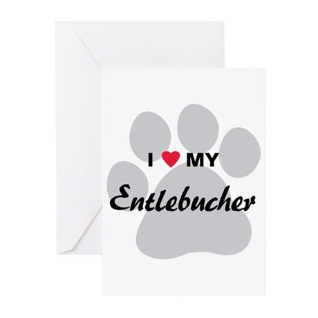 I Love My Entlebucher Greeting Cards (Pk of 20)