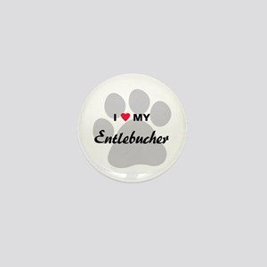 I Love My Entlebucher Mini Button
