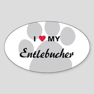 I Love My Entlebucher Sticker (Oval)