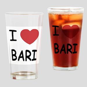 I heart bari Drinking Glass