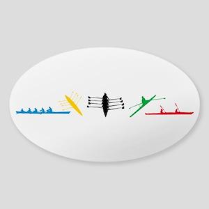 Rowing Sticker (Oval)
