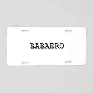 Babaero Aluminum License Plate