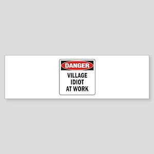 Idiot Sticker (Bumper)