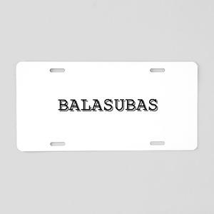 Balasubas Aluminum License Plate