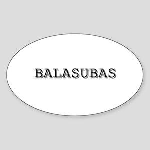 Balasubas Sticker (Oval)