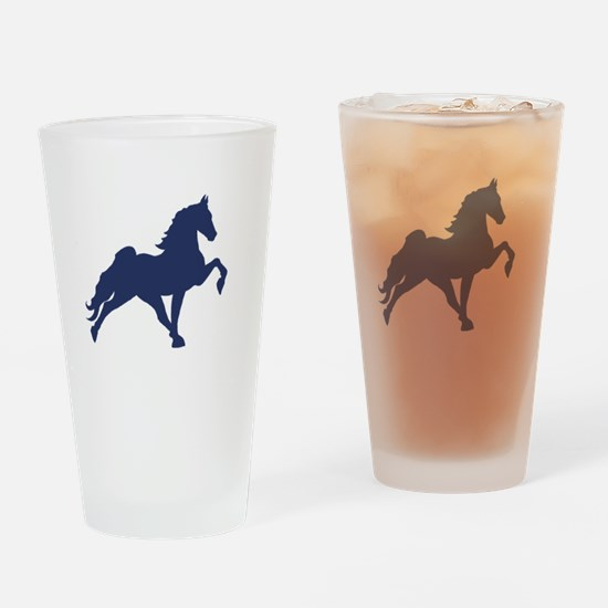 Funny Walking horse Drinking Glass