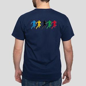 Track And Field Runners Dark T-Shirt