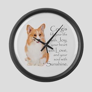 Pembroke Corgi Large Wall Clock