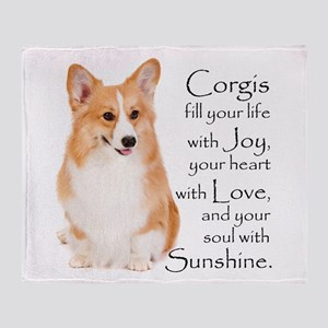 Pembroke Corgi Throw Blanket
