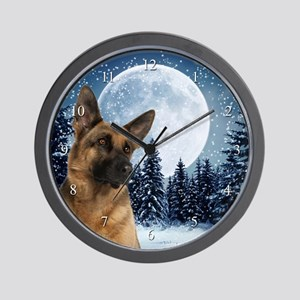 German Shepherd Wall Clock
