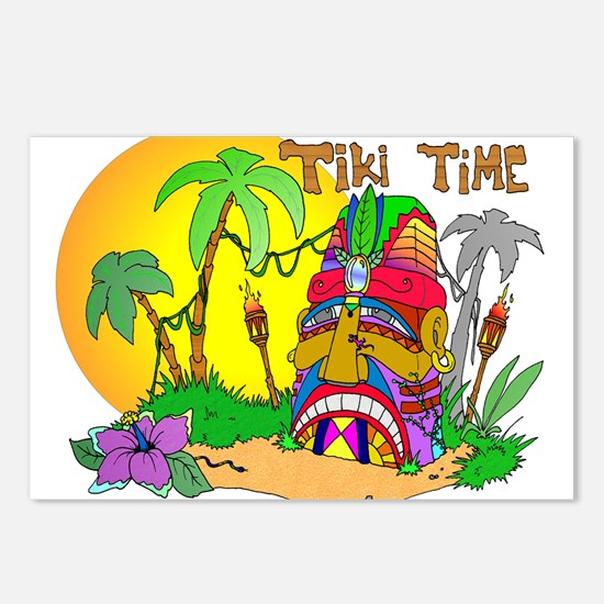 TIKI Face TIME Postcards (Package of 8)