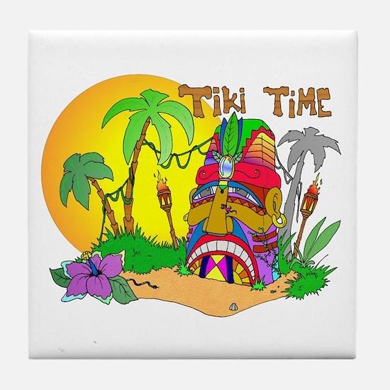 TIKI Face TIME Tile Coaster