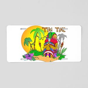 TIKI Face TIME Aluminum License Plate