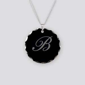 Letter B Necklace Circle Charm