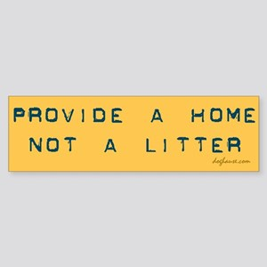 Provide a Home Yellow Bumper Sticker