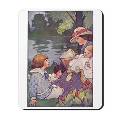 1900's By the River Mousepad