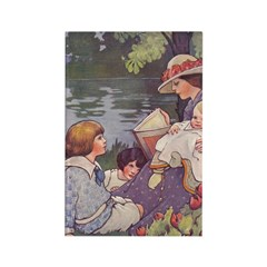 1900's By the River Rectangle Magnet