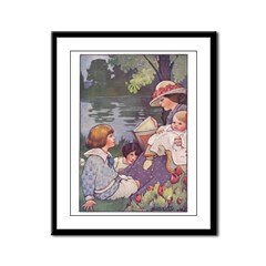 1900's By the River Framed Panel Print