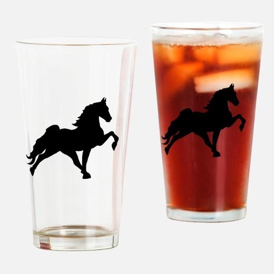 Cute Walking horse Drinking Glass