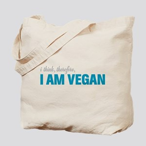I Think, Therefore, I am Vegan Tote Bag