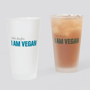 I Think, Therefore, I am Vegan Drinking Glass