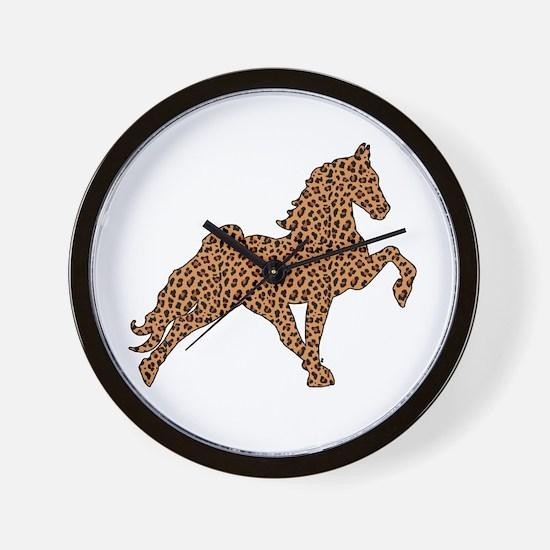 Cute Tennessee walking horses Wall Clock